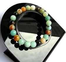 Bracelet Femme Lithothérapie Minéraux Amazonite Bijoux en Pierre Naturelle