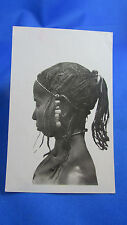 cpa photo femme coiffure africaine afrique occidentale coupe  tribale senegal 2