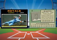 1971 Topps Style BO JACKSON Custom Artist Novelty MLB Baseball Card
