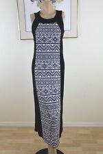 LIZ JORDAN WOMAN BLACK/WHITE FORMAL/MAXI DRESS SZ S