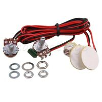 Red and Black Guitar Pickup Transducer Piezo for Guitar and Violin Instrument