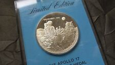 "Great Vintage ""Apollo 17"" Eyewitness Sterling Silver Medal - Franklin Mint"