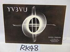 VINTAGE QSL CARD AMATEUR RADIO POSTAL HISTORY 1973 STAMP BARQUISIMETO VENEZUELA