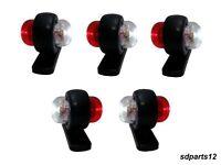 5 X 12V Rouge Blanc Petit LED Feux de Gabarit Camion Caravane Remorques