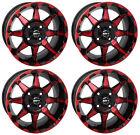 4 ATV/UTV Wheels Set 14in STI HD6 Red 4/110 5+2 IRS