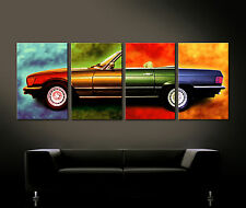 POP ART MERCEDES SL W107 Leinwand Bild 280 380 300 420 450 500 R 107 Original