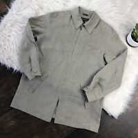 Banana Republic Men's Dress Shirt Made it Italy 100% Linen Zip Front - Size S