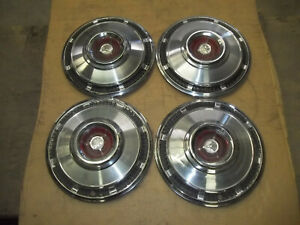 "Dodge Coronet Dart Hubcap Rim Wheel Cover Hub Cap 1965 65 14"" OEM USED 566 SET 4"