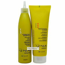 UNA Hydrating Shampoo + Moisturizing Masque 250 ml Duo for Dehydrated Hair