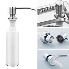 350ML Stainless Steel Soap Dispenser Kitchen Sink Bath Liquid Pump PP Bottle