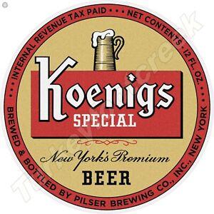 """KOENIGS SPECIAL BEER 11.75"""" ROUND METAL SIGN"""