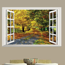 Boulevard Maple Tree Road 3D Window Removable Wall Sticker Mural Decal Art Decor