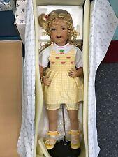 Inge tenbusch Porzellan Puppe 80 cm. Top Zustand
