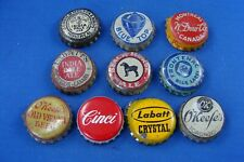10 DIFFERENT CANADIAN  CORK LINED BOTTLE CAPS