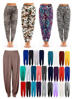 Womens Ladies New HAREM TROUSERS ALI BABA LONG PANTS BAGGY LEGGINGS PLUS sizes