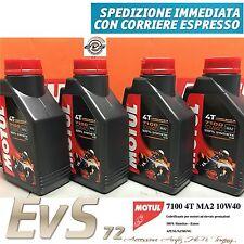 4 Litri Olio Motul 7100 10W40 Lubrificante Motore Moto e Scooter SINTETICO ESTER