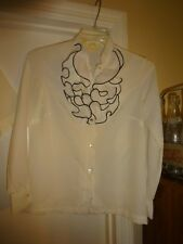 Lee Mar Pageant  / Blouse  White / size 12 Polyester / Long sleeve / Ruffles