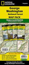 National Geographic VA George Washington National Forest TI Topo Map Pack Bundle