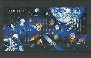 1821.HUNGARY 2015.Anniversaries and events in space research S/S    MNH
