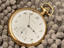 pocket watch  HOWARD series 6   14 k solid GOLD case  29 g scrap 19 j  adj 5 pos