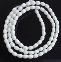 Vintage Opaque White Czech Bohemian Glass African Trade Beads