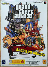 GTA III Grand Theft Auto 3 RARE PS2 51.5 cm x 73 cm Japanese Promo Poster