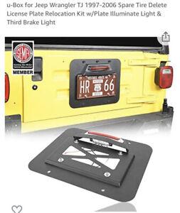 Tail Spare Tire Delete License Plate Relocation Fit Jeep Wrangler TJ 1997-2006