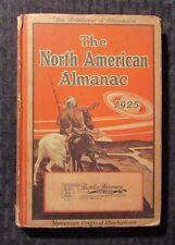 1925 The NORTH AMERICAN ALMANAC HC VG- Peoples Pharmacy Ill.