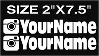 x2 CUSTOM INSTAGRAM USERNAME PERSONALIZED STICKER DECAL EURO JDM VINYL FONT 4
