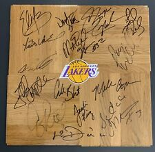 LAKERS TEAM SIGNED FLOOR BOARD - MAGIC JOHNSON!