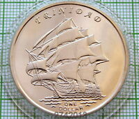 GILBERT ISLANDS KIRIBATI 2014 DOLLAR, TRINIDAD SAILING SHIP FANTASY COIN