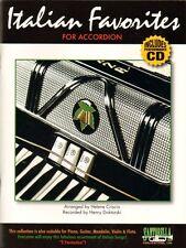 Italian Favorites for Accordion, Music Book & CD