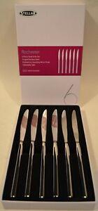STELLAR ROCHESTER SET OF 6 STEAK KNIVES
