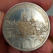 Monnaie argent 5 Francs concours Tir de Lausanne 1876 Suisse