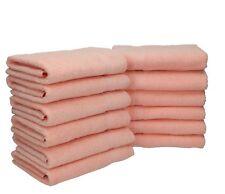 Lot de 12 serviettes Palermo couleur abricot, qualité 360 g/m², 12 serviettes de