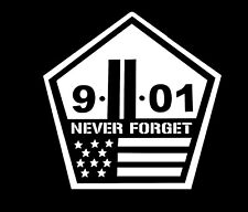 9/11 Never Forget JDM Window Car Truck Decal Sticker