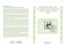 GERMANY DEUTSCHE BUNDESPOST 1993 HUMANITARIAN RELIEF FUNDS NUMBERED LEAFLET