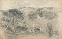 HANNAH SARAH TURNER BRIGHTWEN Pencil Drawing HASTINGS LANDSCAPE 1829