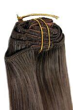 Clip-In Achtteilig Komplett-Set Extensions Haarverlängerung braun 40 cm EX03-8