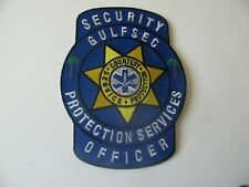 "GULFSEC  Security Protection Services  EMT Rescue Officer Patch Iron On 4"" Rare"