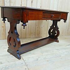 Antique Hall Table in Solid Oak