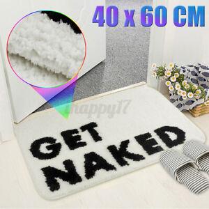 Get Naked Non-Slip Door Mat Home Kitchen Bathroom Floor Entrance Rug Carpet k e