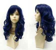 Color Long Wavy Wig w/ Bangs Skin Top Synthetic Costume Cosplay Anime 17""