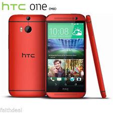 """5.0"""" Rouge HTC One M8 2+16Go 4G Smartphone Débloqué Téléphone Portable 1920*1080"""