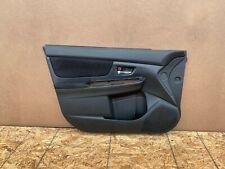 SUBARU WRX STI 2015-2020 OEM FRONT LEFT DRIVER DOOR PANEL (BLACK/ SUED). 44K