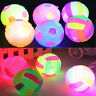 Funny Flashing LED Football Light Up Bouncing Colorful Hedgehog Ball Kids Toy