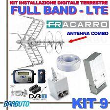 KIT 9 FRACARRO PER DIGITALE TERRESTRE FULL BAND FILTRO LTE + PUNTATORE+CAVO 50mt
