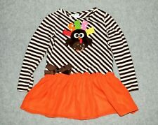 Girls size 4 Peaches N Cream Drop Waist Ruffled Thanksgiving Turkey Dress