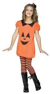 Pumpkin Romper Ch Child Costume Friendly Face Printed Fancy Dress Funworld
