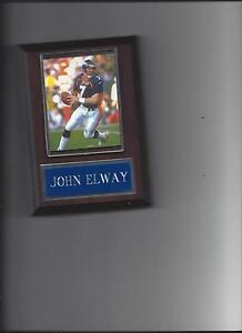 JOHN ELWAY PLAQUE DENVER BRONCOS FOOTBALL NFL